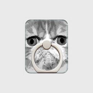 エキゾチックショートヘア おしゃれな猫スマホリング【IMPACT -shirokuro- 】