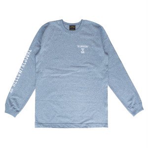 【HELLOWPRESSURE L/S TEE】grey/white