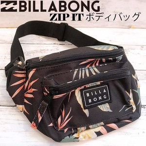 BA014908 ビラボン 新作 ボディバッグ ウエストバッグ レディース 通販 人気 ブランド 可愛い フェス アウトドア ブラック 黒 ボタニカル 花柄 小さめ BILLABONG