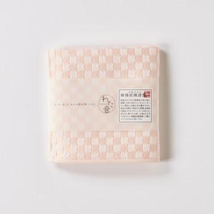 わた音ハンカチーフ/シュス織り/桃色(モモイロ)1-61157-86-P