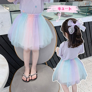 【ボトムス】Aライン配色スウィート女の子キュートスカート29443888