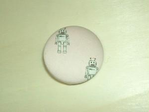 「ロボット[pink]」柄のブローチ帯留め