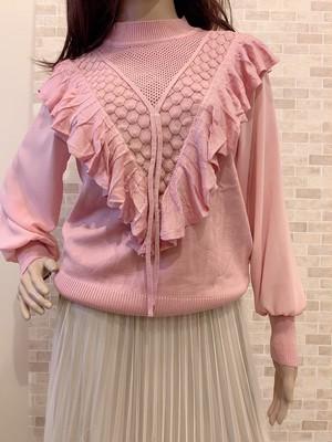 フリル♡スプリングニット ピンク