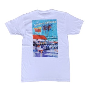 IN-N-OUT BURGER 1992 AT The Beach Tee - white