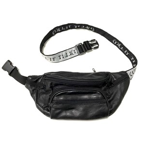 ILLIT - TURN BACK LOGO LEATHER WAIST BAG -