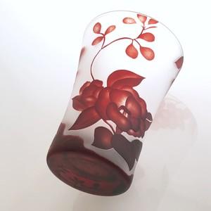 Japanese flower glass 和柄の花コップ