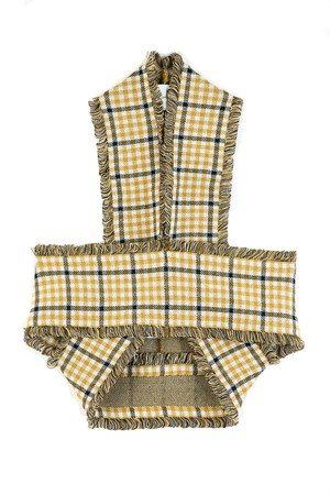 CHECKERED HALTERNECK TOPS