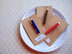色鉛筆ブローチ