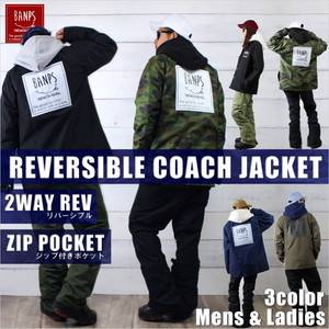 REVERSIBLE 2WAY COACHJACKET LG bp-76