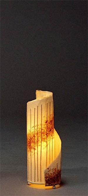 くるりと和紙をらせんに巻いた、アート感覚の灯り☆和紙らせんライト(小)
