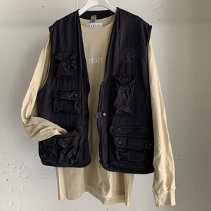Vintage Fishing Vest(NAVY)