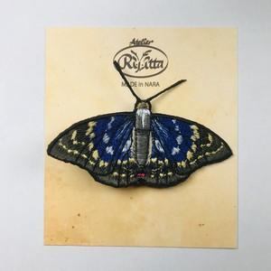 【アトリエリジッタ】 刺繍ブローチ「オオムラサキ」