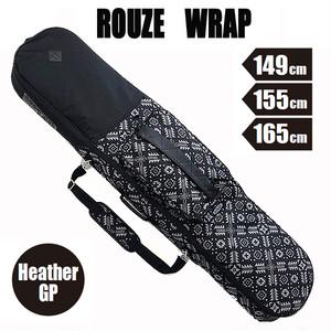 ROUZE 3WAYスノーボードバッグ Wrap ヘザーGP  バックパック・ボードケース・ショルダーに