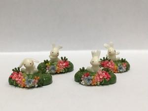 KUKKOO「うさぎさんとお花畑のオブジェ」