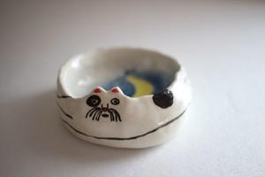 室井雑貨屋(室井夏実)|豆皿 月と猫