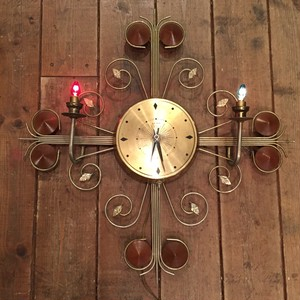United Sunburst Clock with 2 Lamps