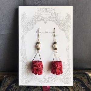 【一部仕様変更】ヘリオポリスの舞踏会 / ピアス(Red)