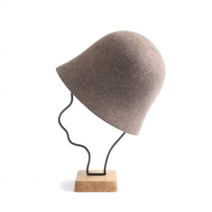 mature ha./free hat back stitch brown melange