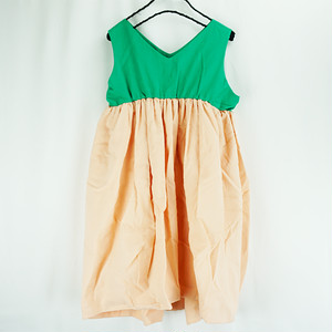 V-NECK DRESS DYED / S - L