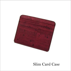 VEGAN CARD CASE  MAROON / カードケース 赤 コルク製
