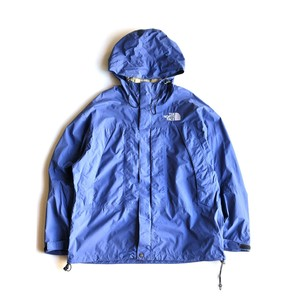 USED 90's The North Face GORETEX nylon hoodie jacket - light blue
