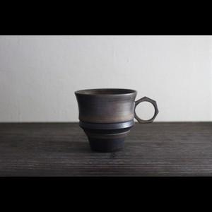陶芸作家【酒井智也】Coffee Cup コーヒーカップ Ver.02 (BLK×Gold)