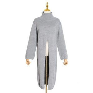 RIMI&Co.SELECT タートルネックスプリットロングセーター