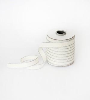 Drittofilocottonribbon   spool of 20 yards Natural/Silver【Studio Carta】/コットンリボン スタジオカルタ