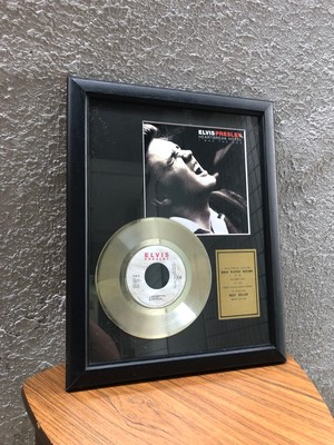 限定品! エルビスプレスリー ELVIS PRESLEY HEARTBREAK HOTEL GOLD PLATE ©1992