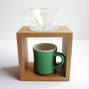 オーク無垢材 ドリッパースタンド コーヒー 珈琲 ドリップスタンド サードウェーブ 木工職人製作 ハンドメイド