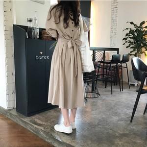 バックリボン オルチャンファッション ロングワンピース RPSK062301