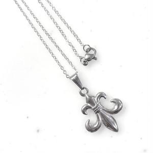 316L Fleur de lis charm necklace 【SILVER】
