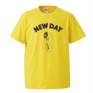 ✳️再入荷【NEW DAY 】T-Shirt (YELLOW × SUMI)