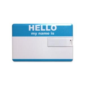 Lixtick USB CARD MEMORY ~HELLO~ BLUE