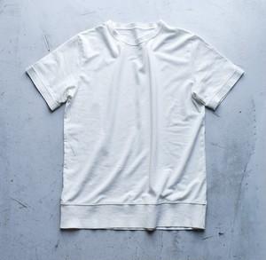 和紙100%ニットの半袖リブTシャツ(ホワイト)