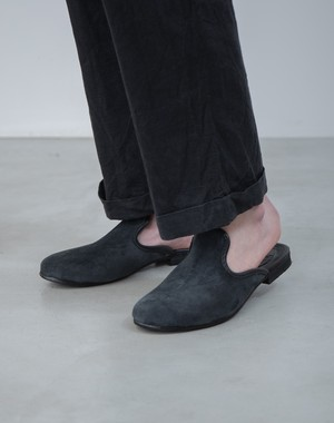 "Nelson ""Suede Leather Zapatillas"" / NEW / Made In ARGENTINA / COLOR: BLACK"