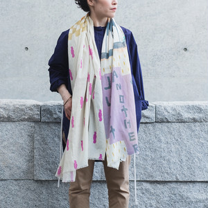 Organic Cotton 'New York Minute' Pastel ロングストール