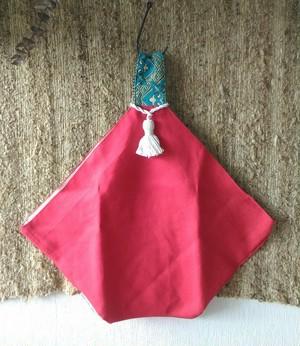 あずまバッグ(モロッコ×インド織綿)