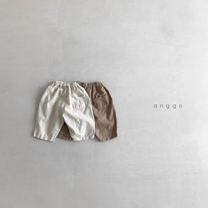 【2021SS予約】【anggo】Almond Linen Pants