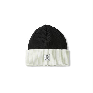 POLAR SKATE CO / DOUBLE FOLD MERINO BEANIE -WHITE / BLACK-