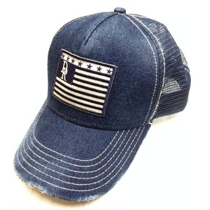 RESOUND CLOTHING(リサウンドクロージング)VINTEAGE DENIM RESOUND FLAG CAP IND A