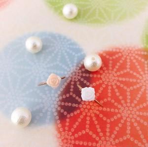 【kiyolakrei】キヨラクレイ リトルフラワー ピンキーリング 1号 3号 5号 ローズ 白珊瑚 ピンク珊瑚 K10 kk03130 kk03140 (CORALIA)