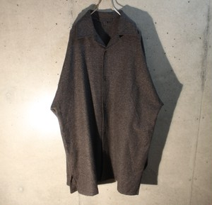 Wool Poly Open Collar Shirt