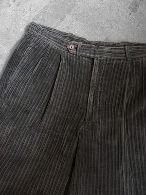 corduroy tuck trousers