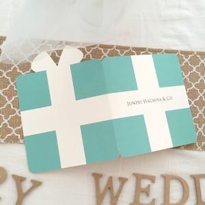 【席札 & Menu】Tiffany 二つ折りタイプ  10枚セット