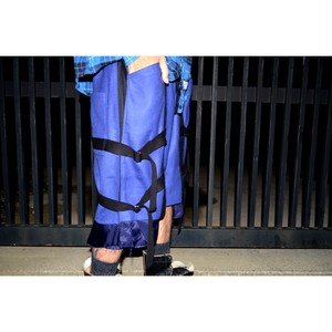 【CODE】wool belt pants(blue)