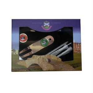 ゴルフマーカー&ディボットツール&ティー&鉛筆BOXセット【St.Andrews】20085