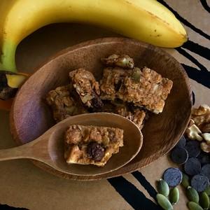 バナナとチョコチップのグラノーラ ブリック