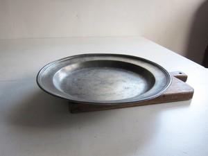 ピューター エタン 大皿 プレート 36.9cm