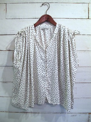 80 lawn cotton rayon dot blouse
